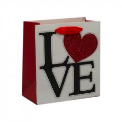 Подарунковий пакет Love білий