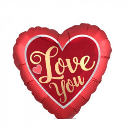 Повітряна кулька фольгована міні Серце I love you