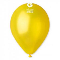 Повітряні кульки жовтий металік