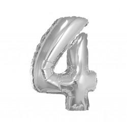 Кульки Цифра 4 Срібна (7г) 85см 64034 Godan