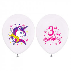 Набір кульок Єдиноріг 3 rd BIRTHDAY