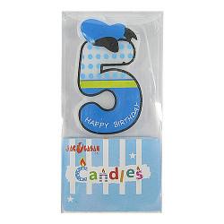 Свічка для торта Цифра 5...