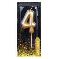 Свічка для торта Цифра 4...