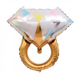 Колечко золоте з діамантом