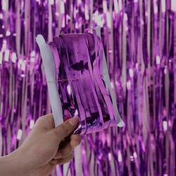 Шторка з дощику фіолетова
