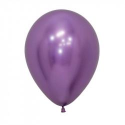 Повітряні кульки хром фіолетовий 50шт/уп