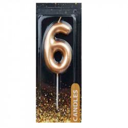 Свічка для торта Цифра 6...