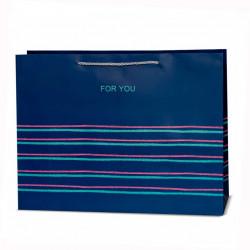 Подарунковий пакет For tou полоска 43*35*14см