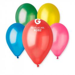 """Повітряні кульки металік 10"""" асорті 50шт/уп"""