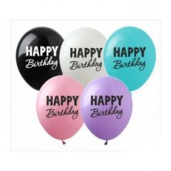 """Кульки 12"""" з малюнком в уп SDR-56  Happy Birthday асорті100шт/уп латекс 01933 TM SHOW"""