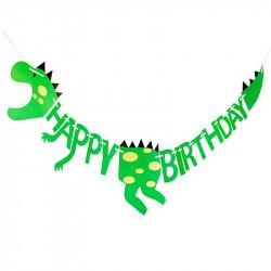 Гірлянда Happy Birthday Динозавр