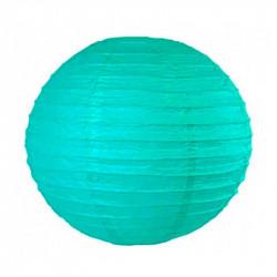 Паперова куля - ліхтар бірюзова 35см 1шт