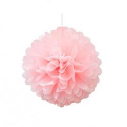 Помпон рожевий 25см