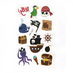 Наклейка на руку Пірати