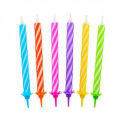Свічки класичні кольорові спіралі 24шт
