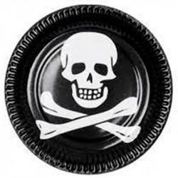 Тарелки Череп пирата 6шт/уп