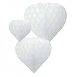 Паперові кулі-соти Серце біле 3шт/уп