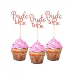 ТОПЕРИ  Bride to be рожеве -золото 12шт/уп