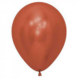 """Повітряні кульки червоні хром 12"""" 50шт/уп"""