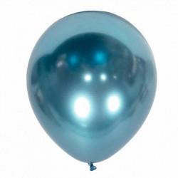 """Повітряні кульки блакитні хром 12"""" 50шт/уп"""