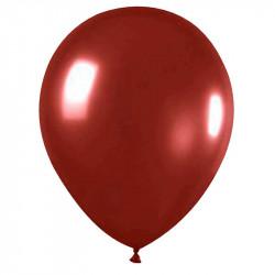 """Повітряні кульки хром Червоні 12"""" 50шт/уп"""