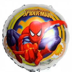 """Повітряна кулька фольгована Спайдермен на срібному 18""""46см"""