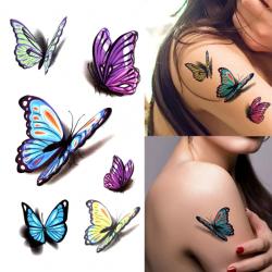 Наклейки на руку Метелик...