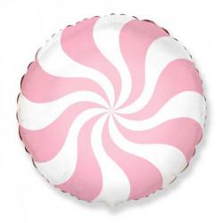 Повітряна кулька фольгована Карамель рожева