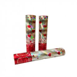 Хлопавка Сердечка 20см конфеті фольга