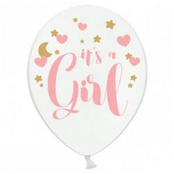 Повітряні кульки білі Its а Girl 50шт/уп
