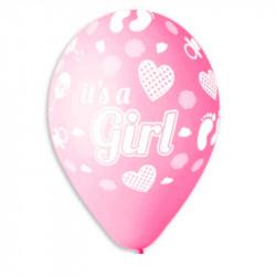 """Повітряні кульки  IT'S A GIRL 12"""" 100шт/уп"""