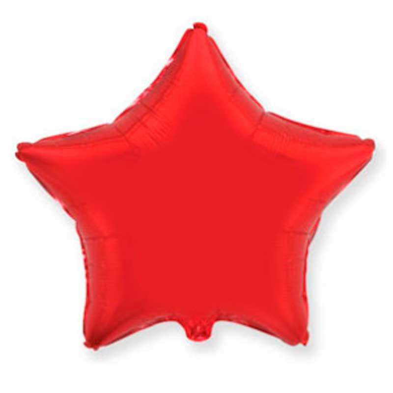 Повітряна кулька фольгована Зірка червона