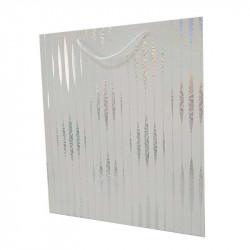 пакет Білий в срібну голограму