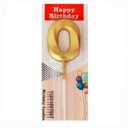 Свічка для торта Цифра 0...
