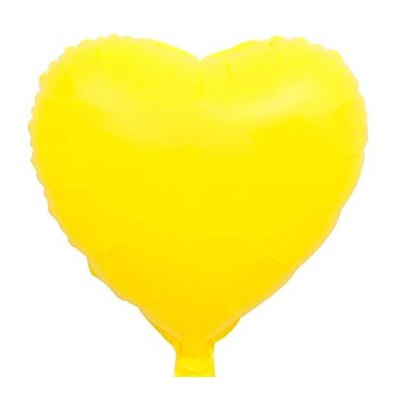 """Повітряна кулька жовта Серце макарун фольга 18"""""""