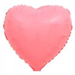 "Серце корал макарун фольга 18"""