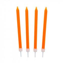 Свічки класичні помаранчеві 10 шт/уп