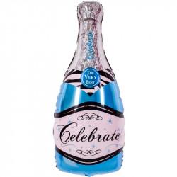 Повітряна кулька Шампанське блакитна 98*48см
