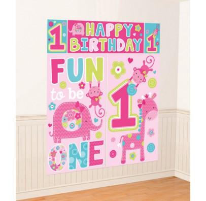 Баннер на стену 1-st Birthday girl