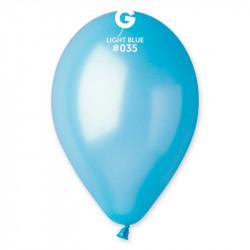 Повітряні кульки металік блакитні 100шт/уп