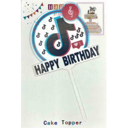 Топер на торт Happy...