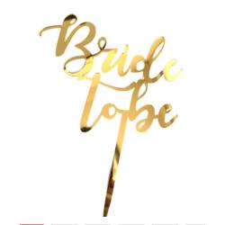 Топер Bride to be золотий