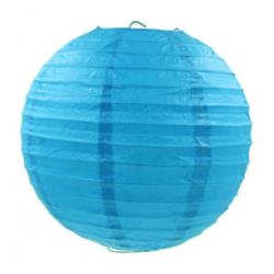 Паперова куля-ліхтар синя 30см