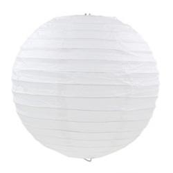 Паперова куля-ліхтар біла 30см