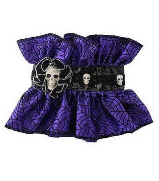 Воротник фиолетовый с черепами