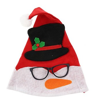 Капелюх новорічний з окулярами