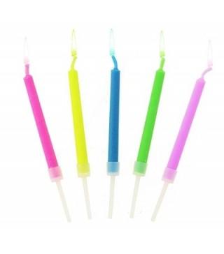 Свічки з кольоровими вогниками 5шт/уп