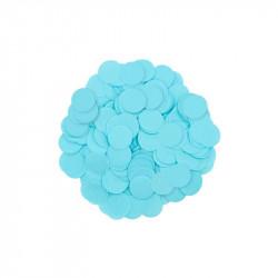 Конфеті кружечки блакитні 15г