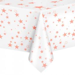 Скатертина Біла з зірками...