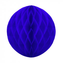 Паперов куля-соти  синя 30см